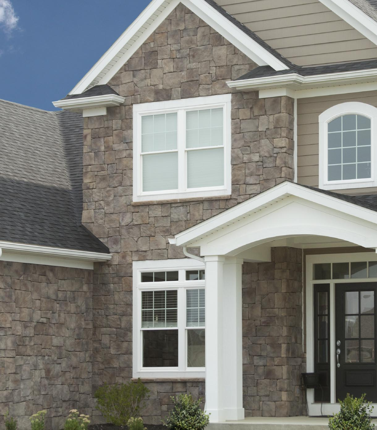 Vinyl siding and stone exteriors for Stone facade siding